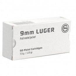 9mm Para Geco Whitebox 115 gr VM VE50