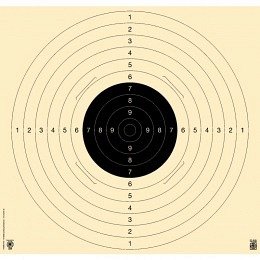Kromer 25-/50m,-Pistolen-Präzisionsscheibe Karton 4x geschlitzt 55x52cm