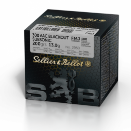 300 AAC Blackout subsonic S&B FMJ 200gr VE100