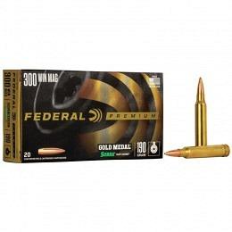 300 Win Mag Federal Gold Medal Sierra MatchKing 190 gr BTHP VE20
