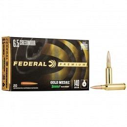 6.5 Creedmoor Federal Gold Medal Sierra MatchKing 140 gr BTHP VE20
