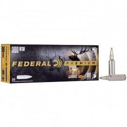 300 WSM Federal 180 gr Nosler Ballistic Tip VE20