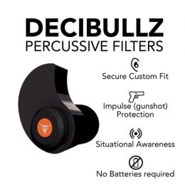 Decibullz Custom Molded Percussive Filter NRR 31