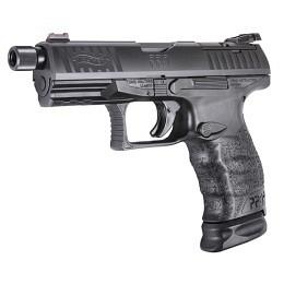 "Walther PPQ Q4, TAC, 9mm Para, schwarz, SD 1/2""x28, AM, 15 Schuss + 2x 15+2 Schuss"