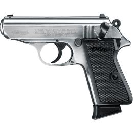 Walther PPK/S, 22 LR, nickel, 10 Schuss