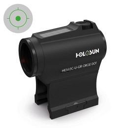 Holosun HE503CU-GR Elite Solar Green Circle Dot Sight Black